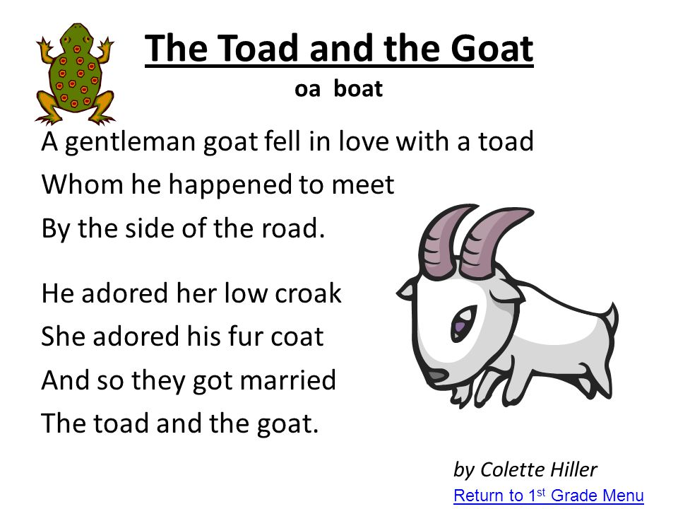 The Toad and the Goat oa boat