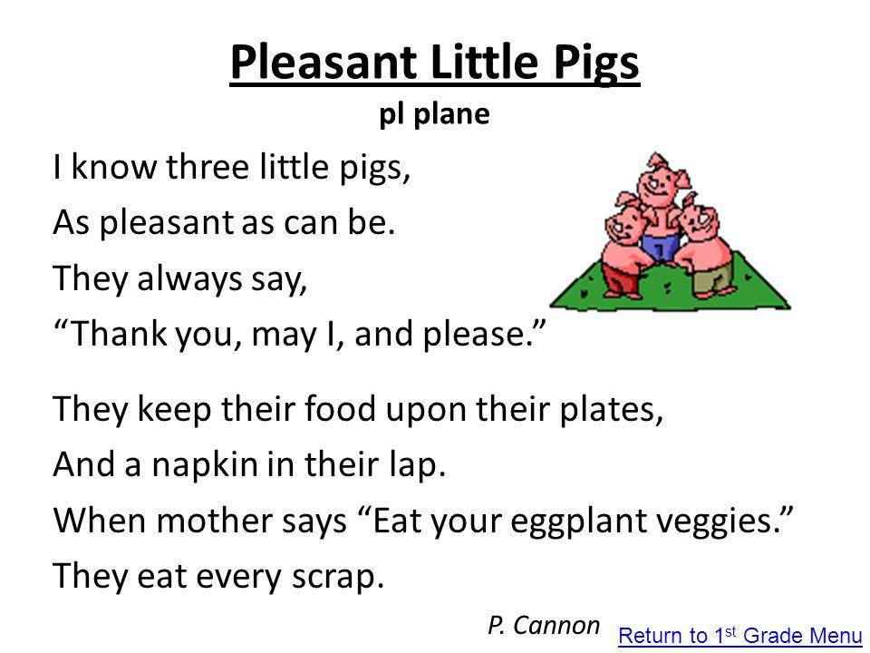 Pleasant Little Pigs pl plane