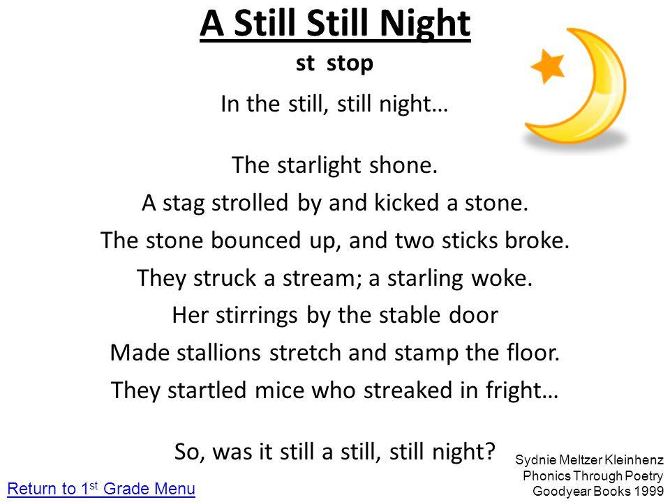 A Still Still Night st stop