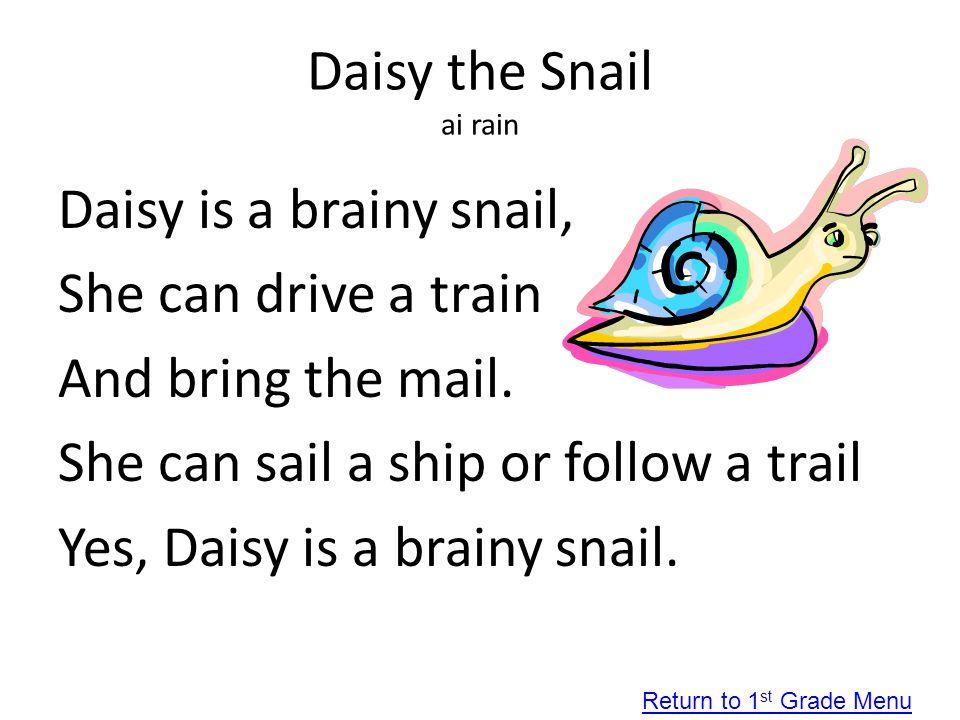 Daisy the Snail ai rain
