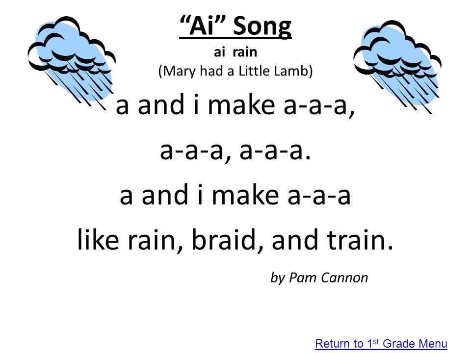 Ai Song ai rain (Mary had a Little Lamb)