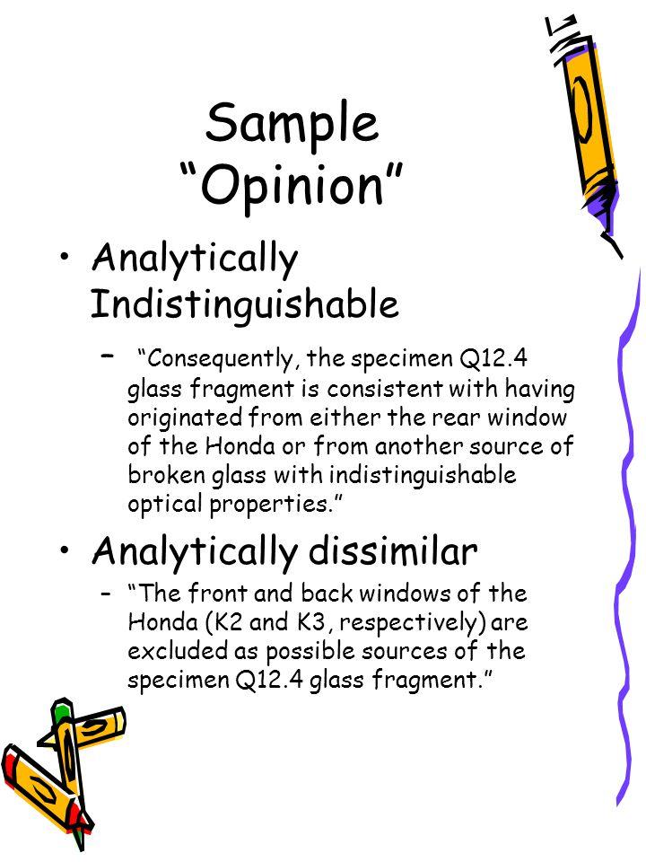 Sample Opinion Analytically Indistinguishable