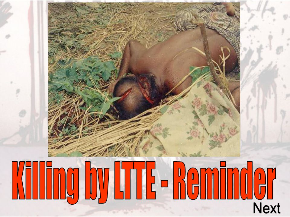 Killing by LTTE - Reminder