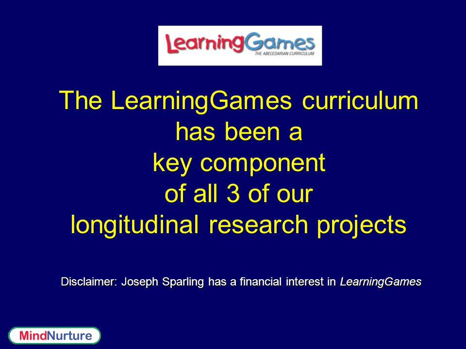 Disclaimer: Joseph Sparling has a financial interest in LearningGames
