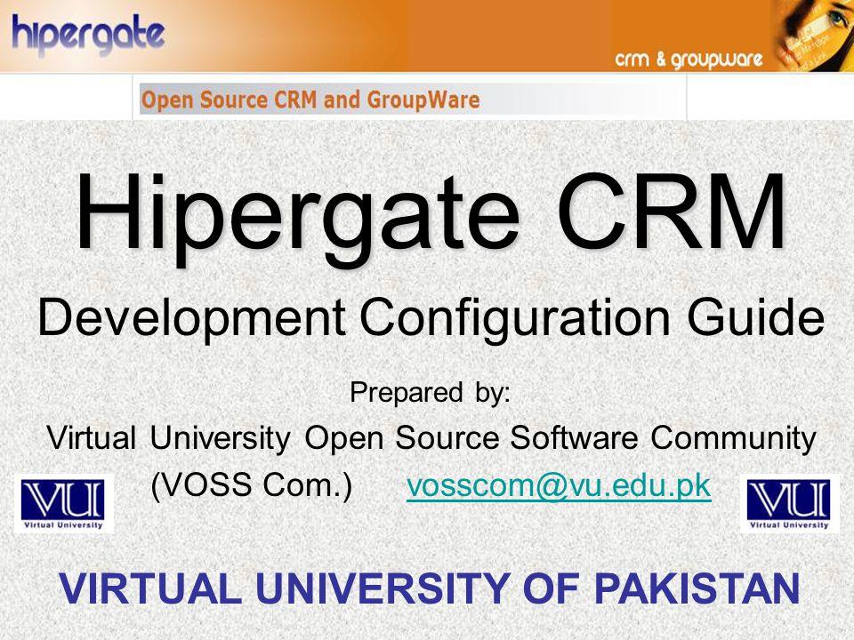 Hipergate CRM Development Configuration Guide