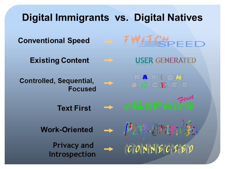 Digital Immigrants vs. Digital Natives
