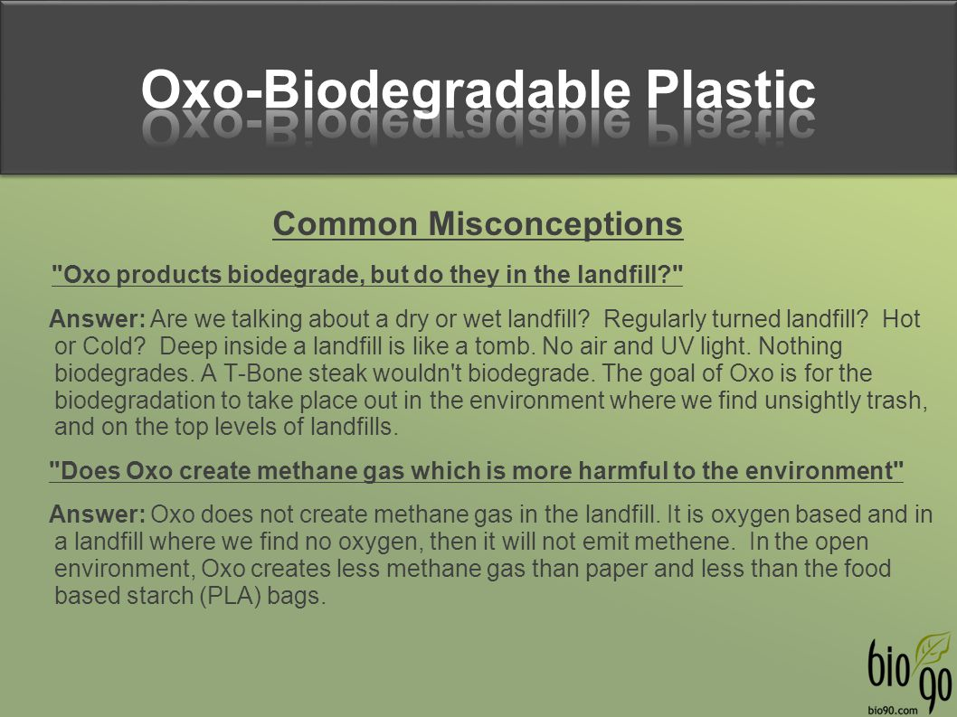 Oxo-Biodegradable Plastic Common Misconceptions
