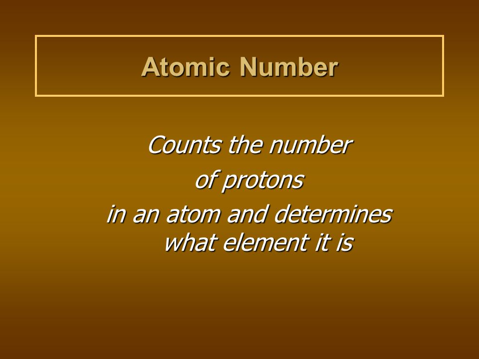 in an atom and determines what element it is