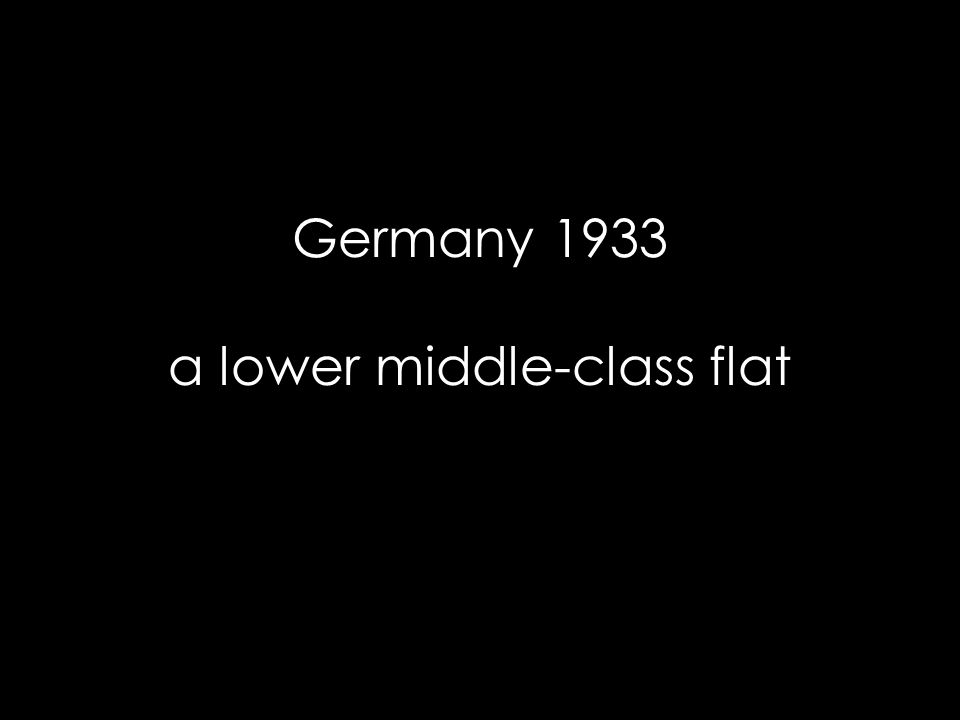 Germany 1933 a lower middle-class flat