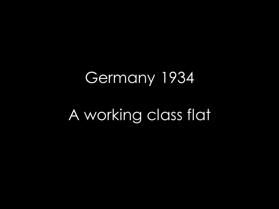 Germany 1934 A working class flat