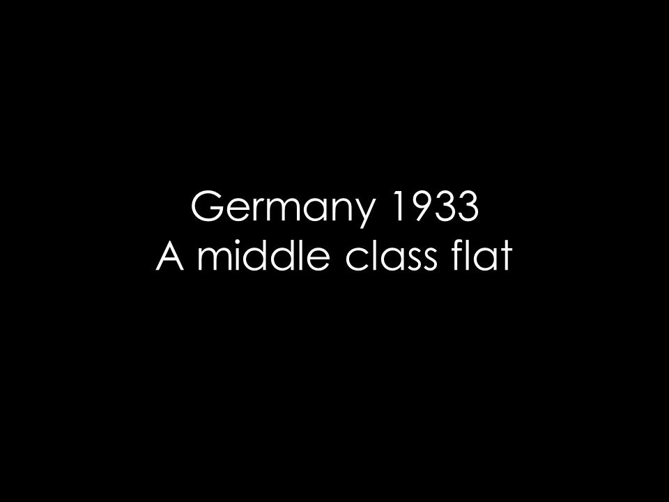 Germany 1933 A middle class flat