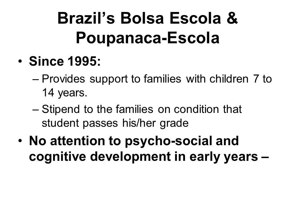 Brazil's Bolsa Escola & Poupanaca-Escola