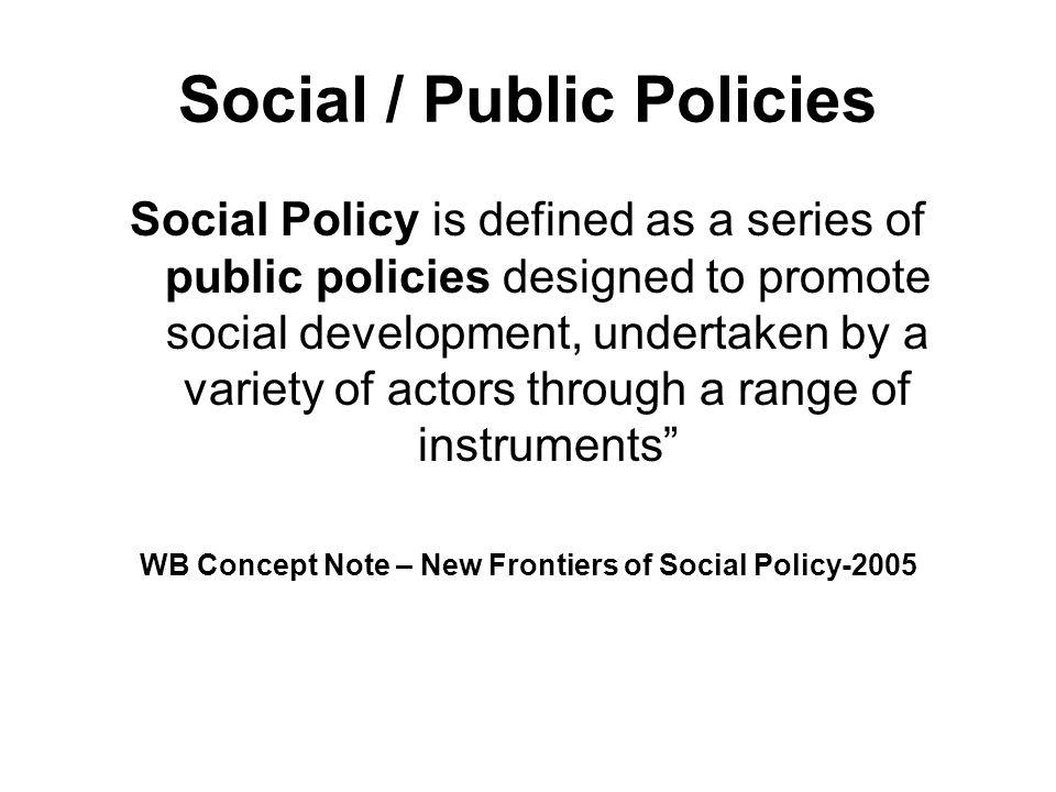 Social / Public Policies