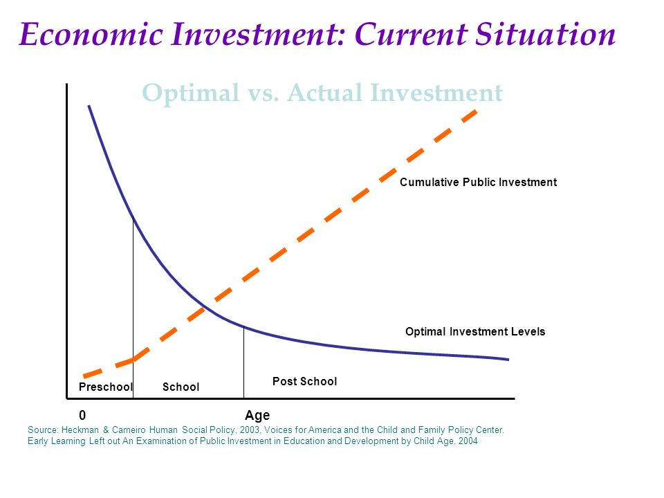 Optimal vs. Actual Investment
