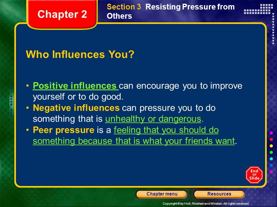 Chapter 2 Who Influences You
