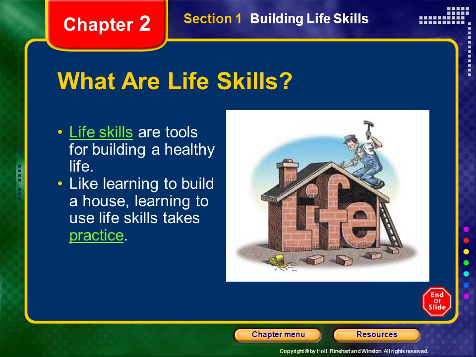 What Are Life Skills Chapter 2