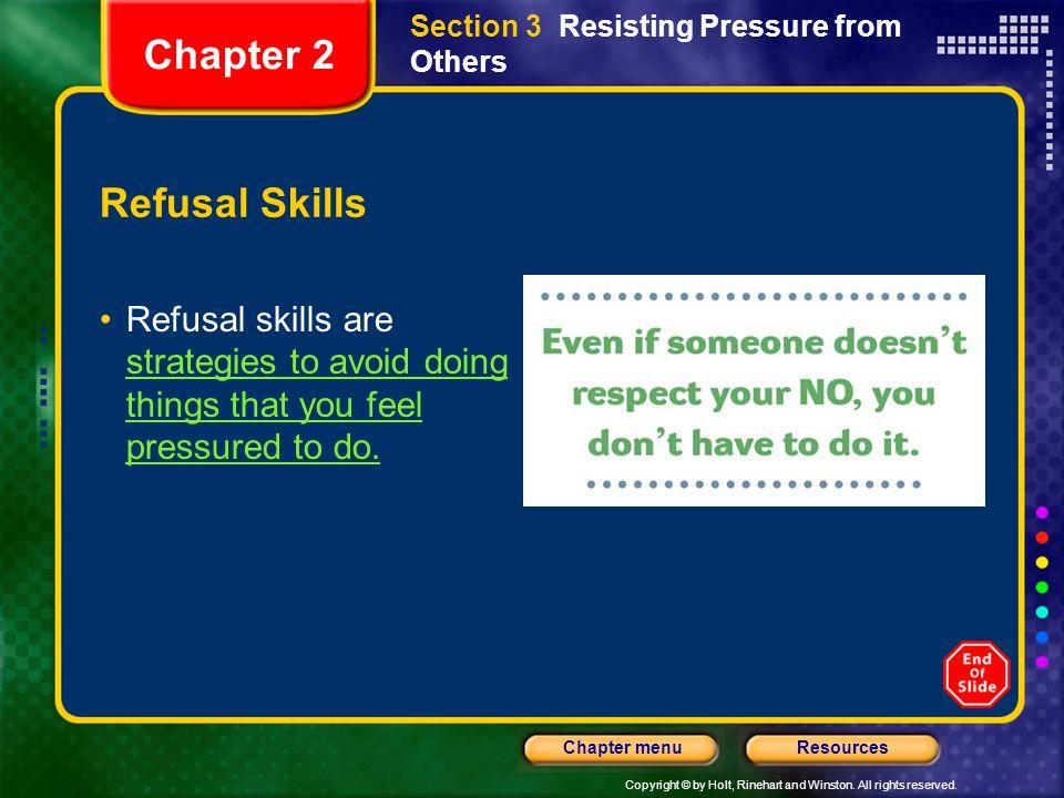 Chapter 2 Refusal Skills