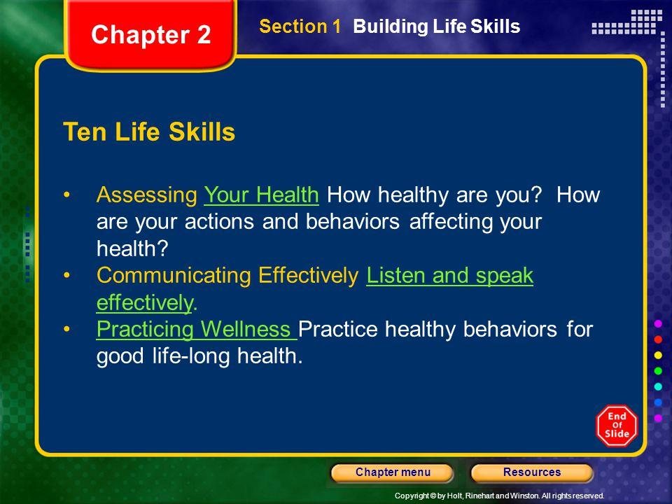 Chapter 2 Ten Life Skills