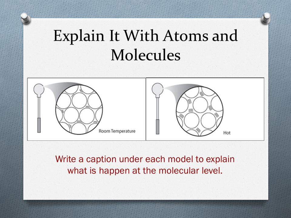 Explain It With Atoms and Molecules
