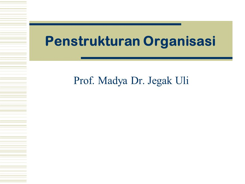 Penstrukturan Organisasi