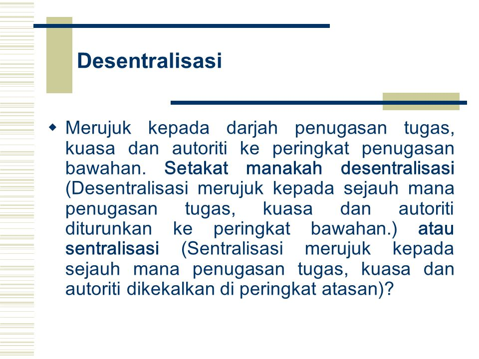 Desentralisasi