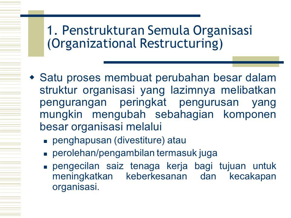 1. Penstrukturan Semula Organisasi (Organizational Restructuring)