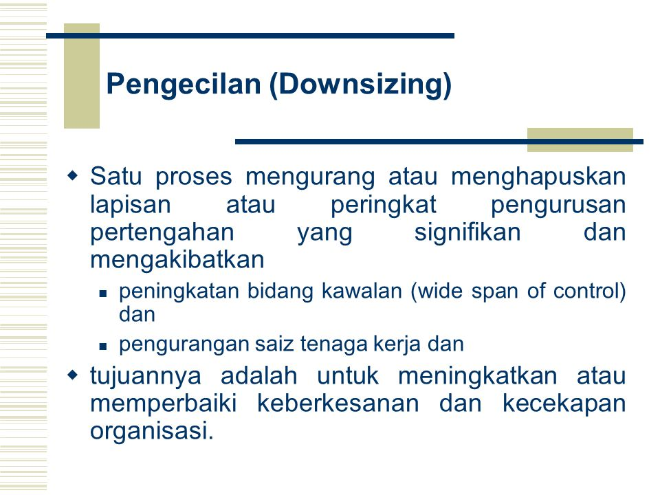 Pengecilan (Downsizing)