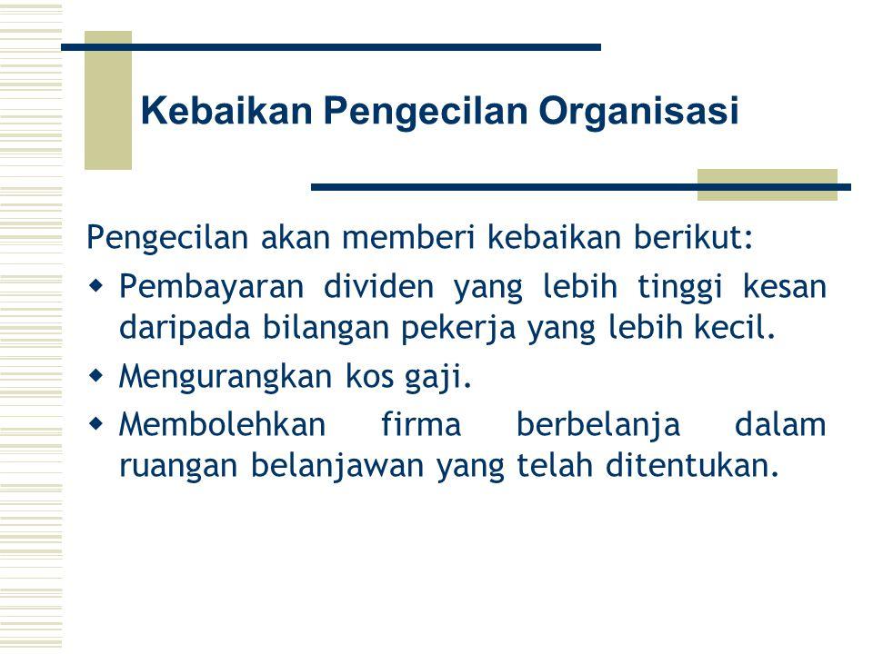 Kebaikan Pengecilan Organisasi