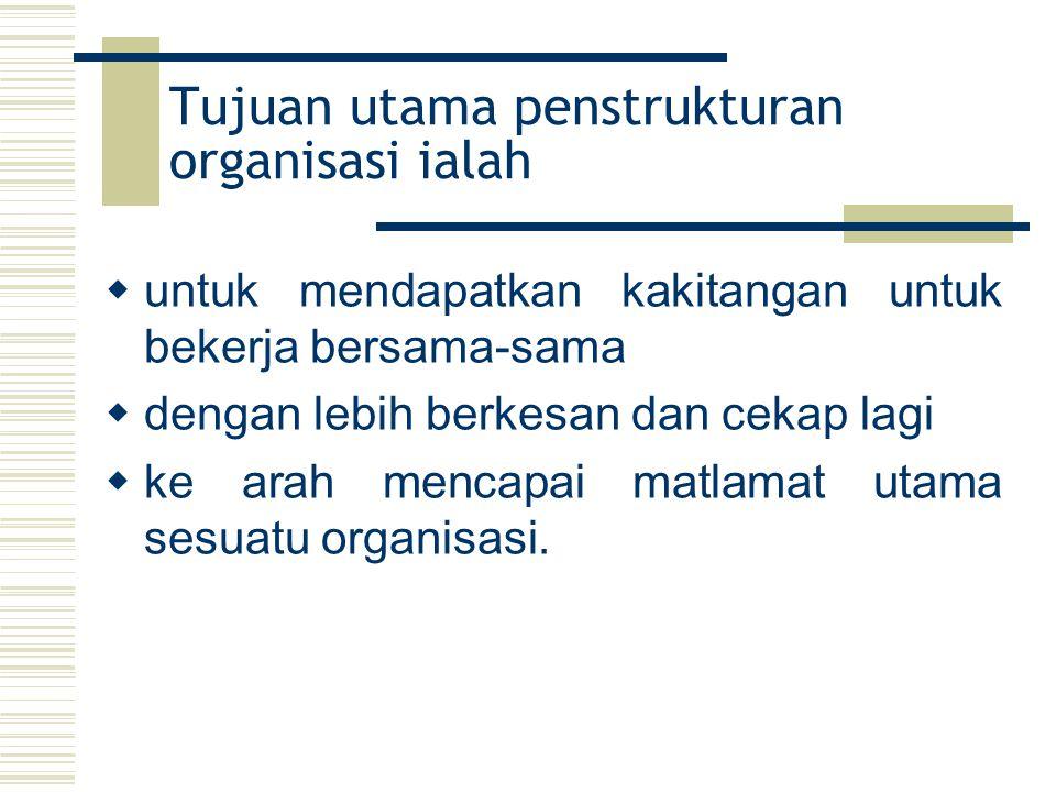 Tujuan utama penstrukturan organisasi ialah