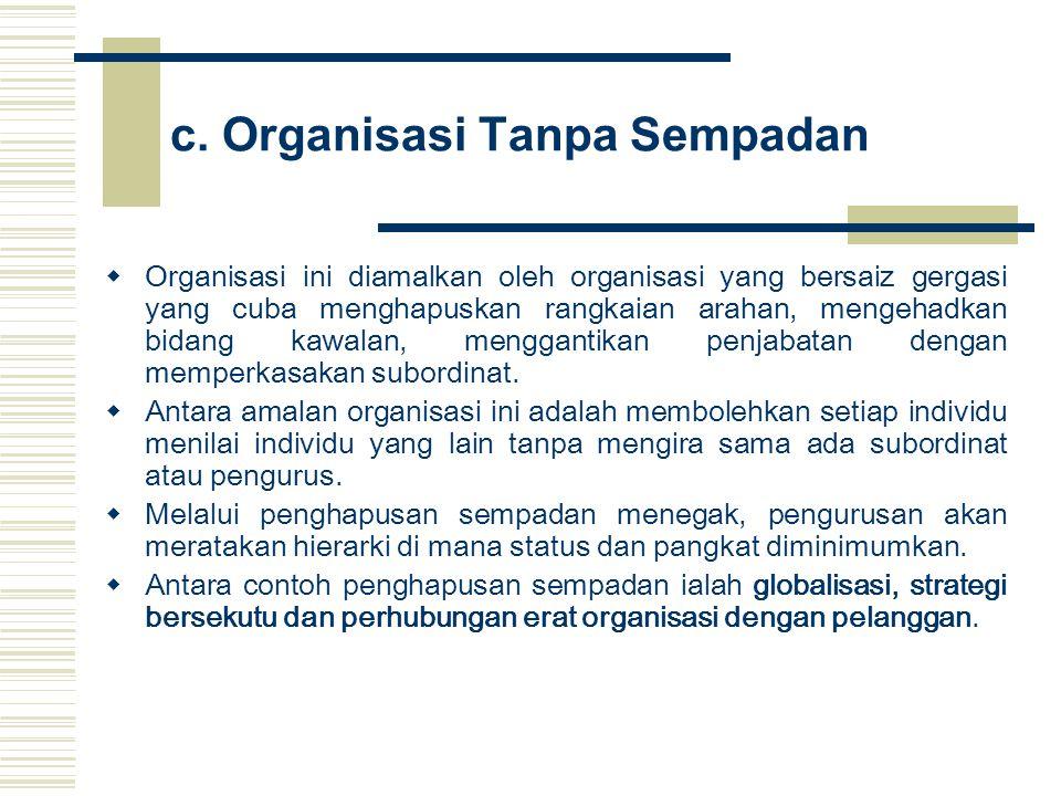 c. Organisasi Tanpa Sempadan
