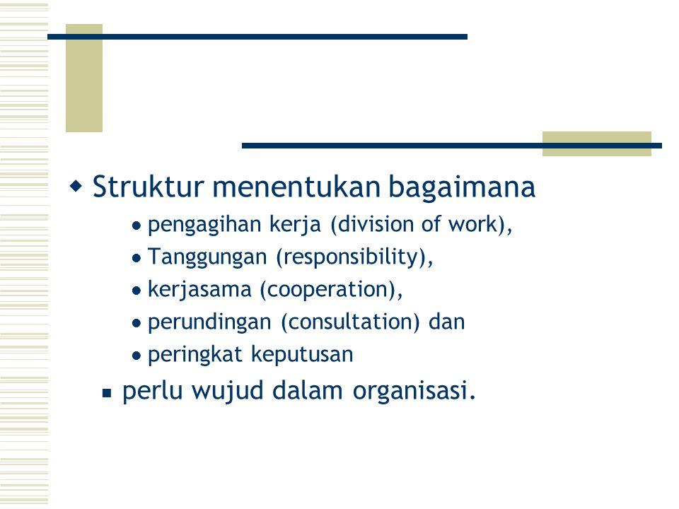 Struktur menentukan bagaimana