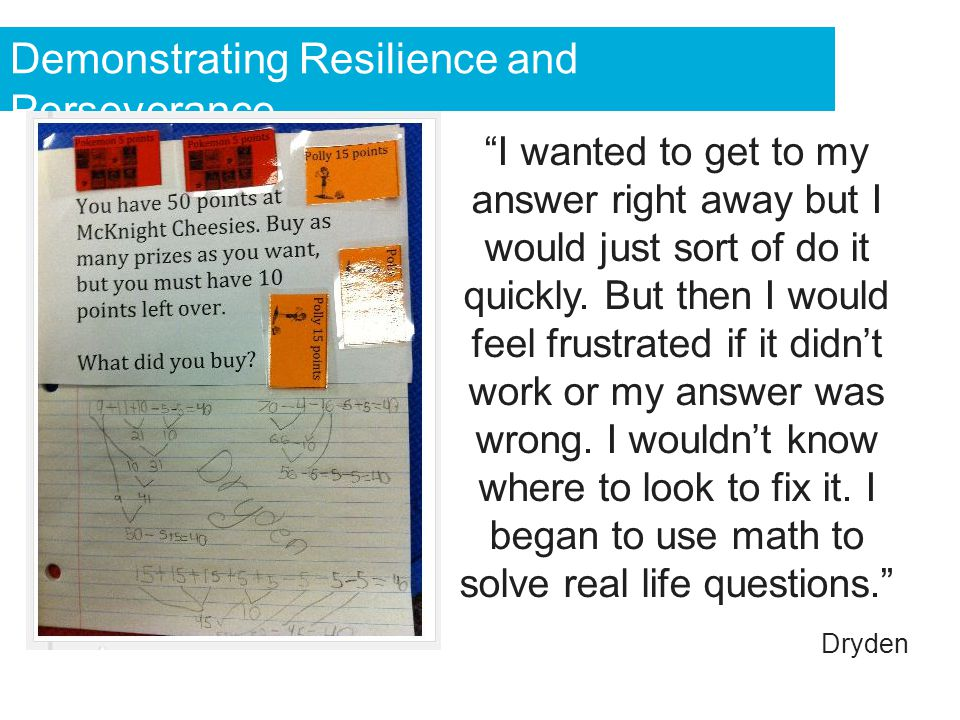 Demonstrating Resilience and Perseverance