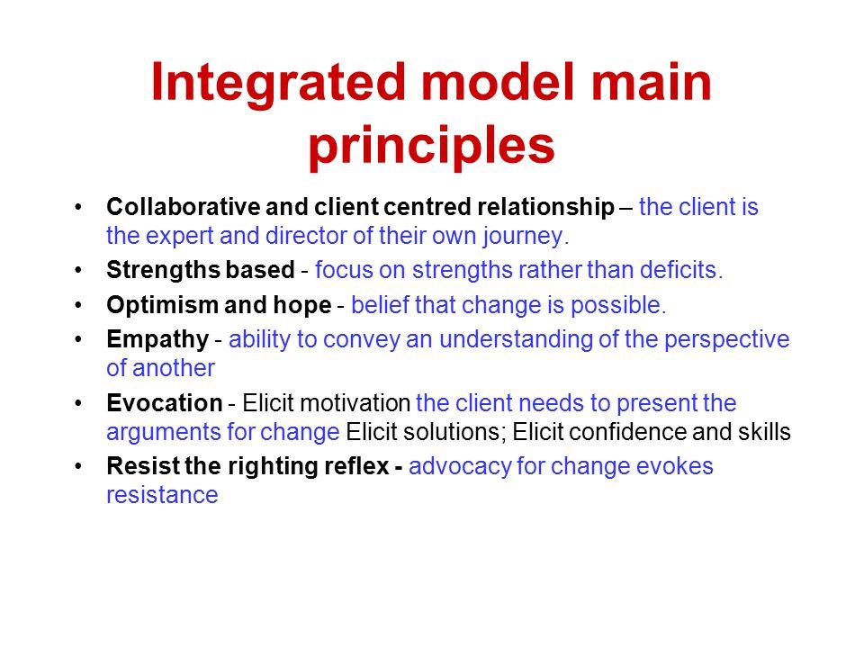 Integrated model main principles