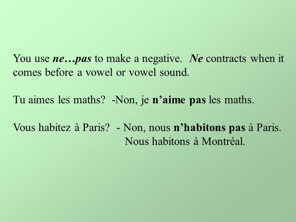 You use ne…pas to make a negative