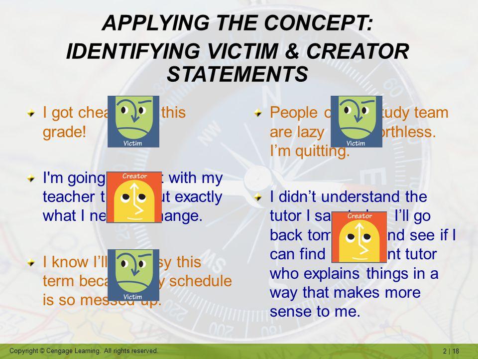 IDENTIFYING VICTIM & CREATOR STATEMENTS