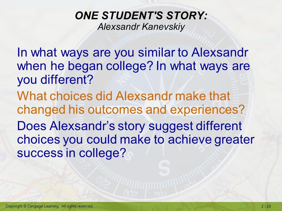 ONE STUDENT S STORY: Alexsandr Kanevskiy
