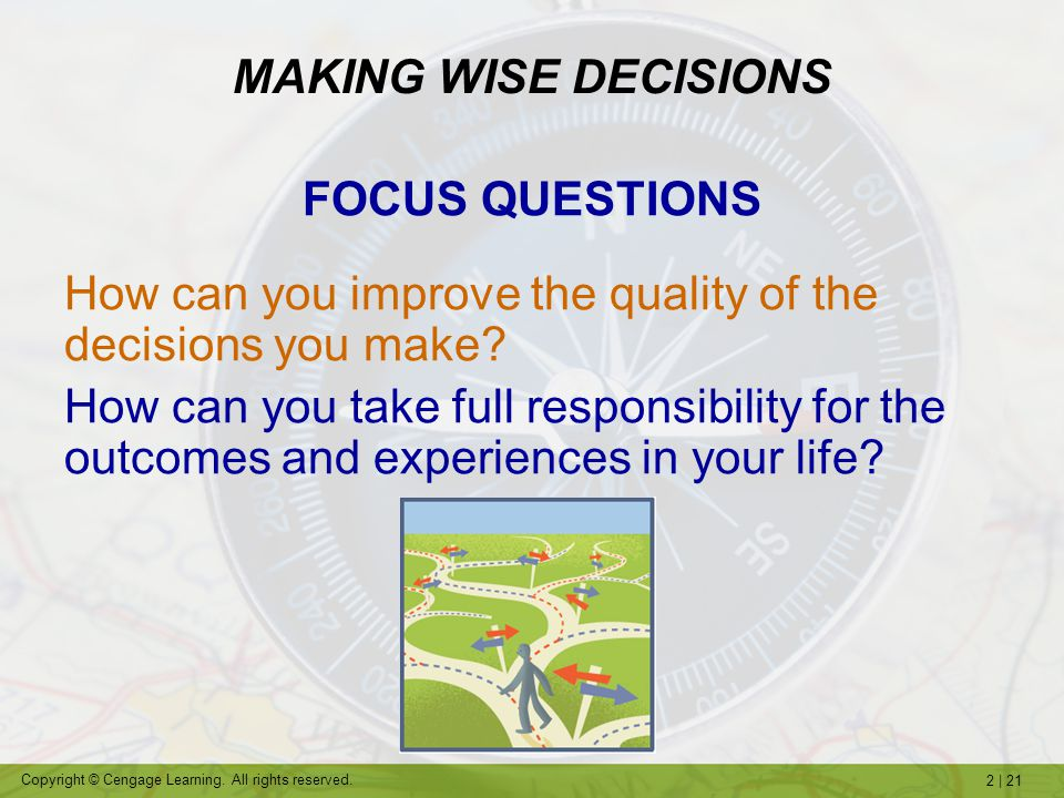 MAKING WISE DECISIONS FOCUS QUESTIONS