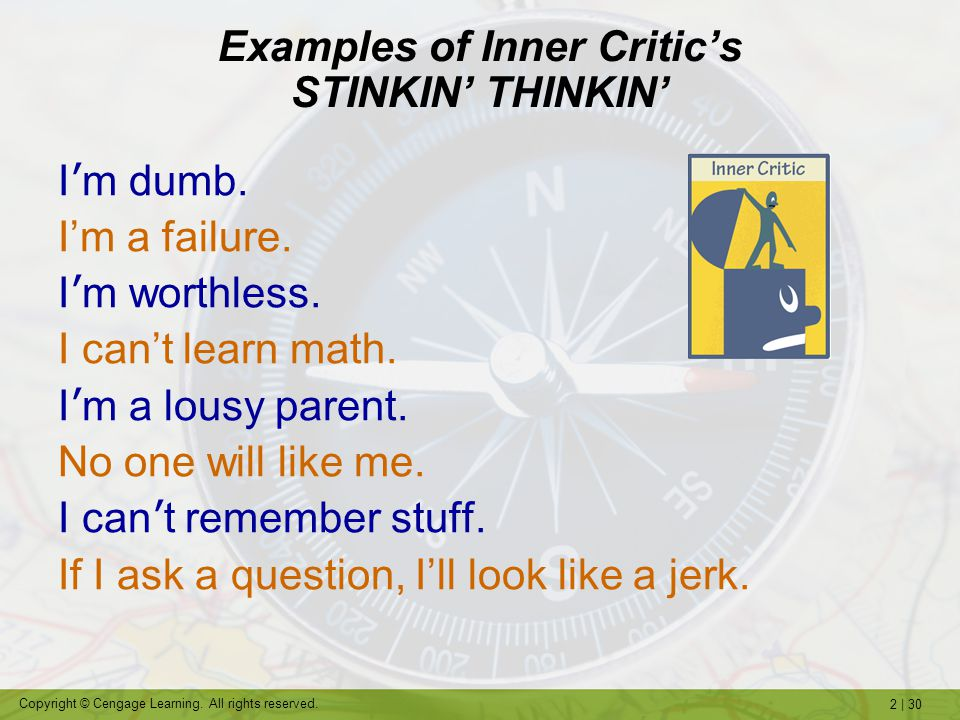 Examples of Inner Critic's STINKIN' THINKIN'