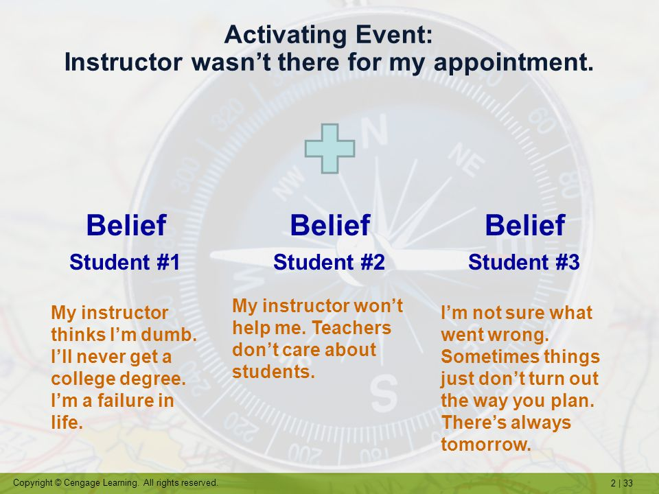 Activating Event: Instructor wasn't there for my appointment.