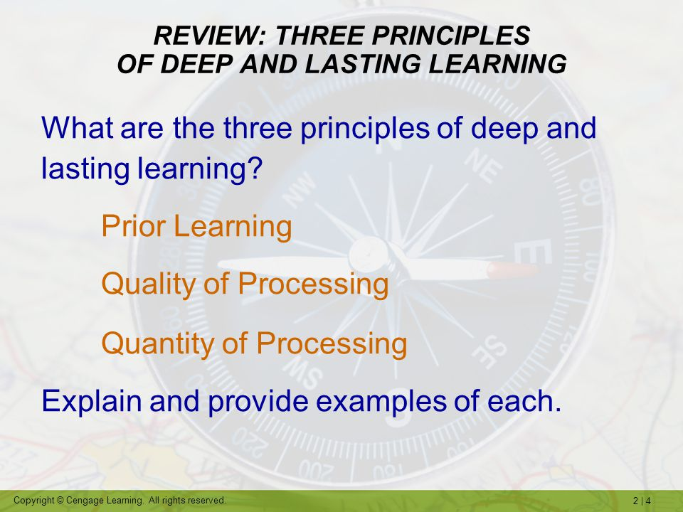 REVIEW: THREE PRINCIPLES OF DEEP AND LASTING LEARNING