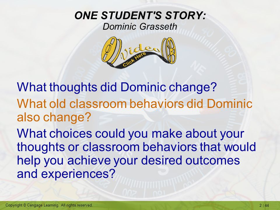 ONE STUDENT S STORY: Dominic Grasseth