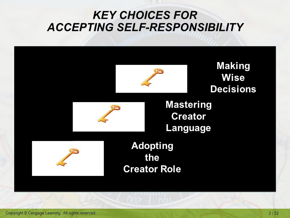 KEY CHOICES FOR ACCEPTING SELF-RESPONSIBILITY