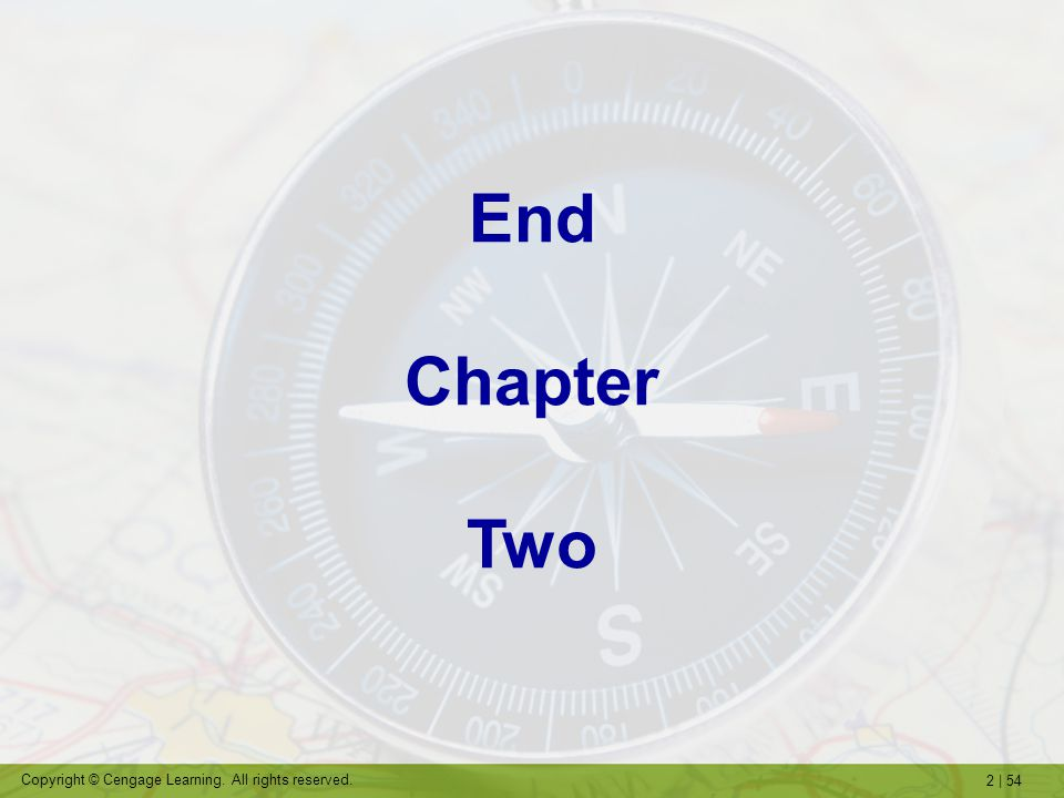 End Chapter Two
