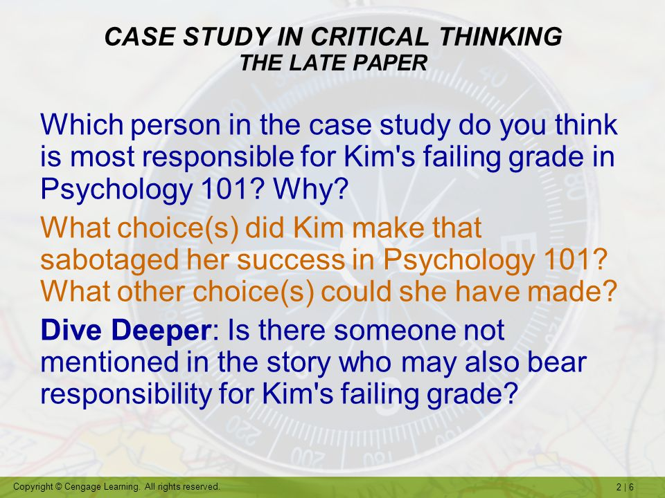 critical thinking case study essay Guide to writing an essay include assignments where you are given data such as a case study or and demonstrated critical thinking in my essay.