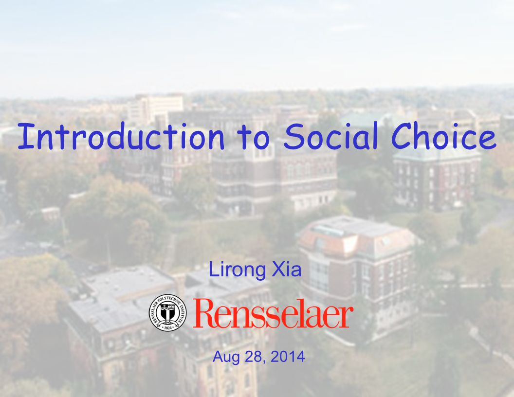 Last class: Two goals for social choice