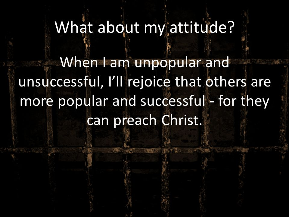 What about my attitude.