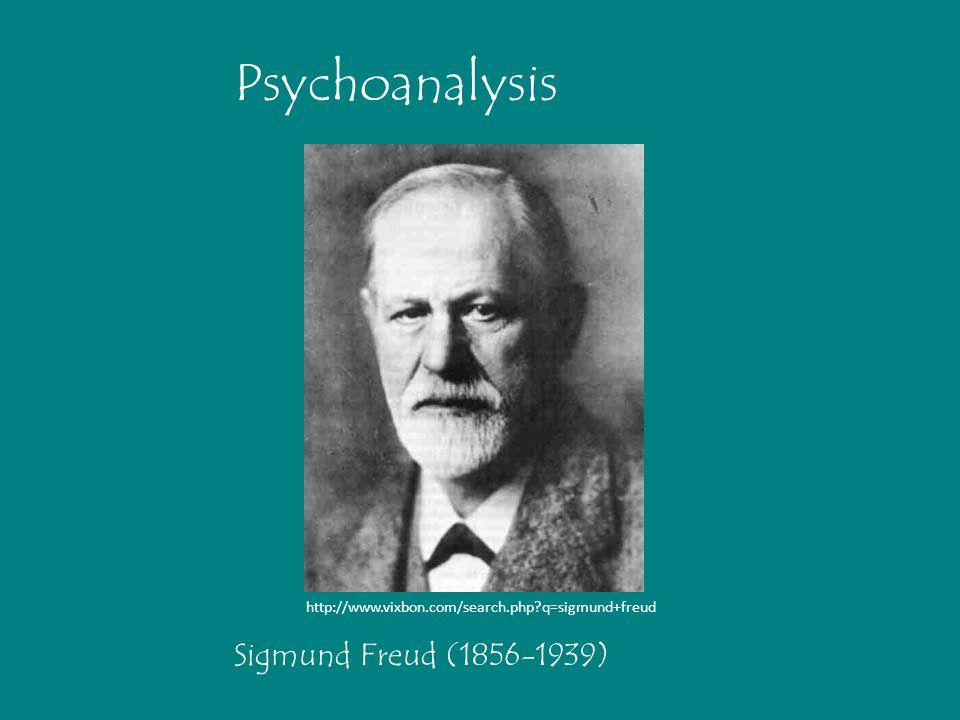 Psychoanalysis Sigmund Freud (1856-1939)
