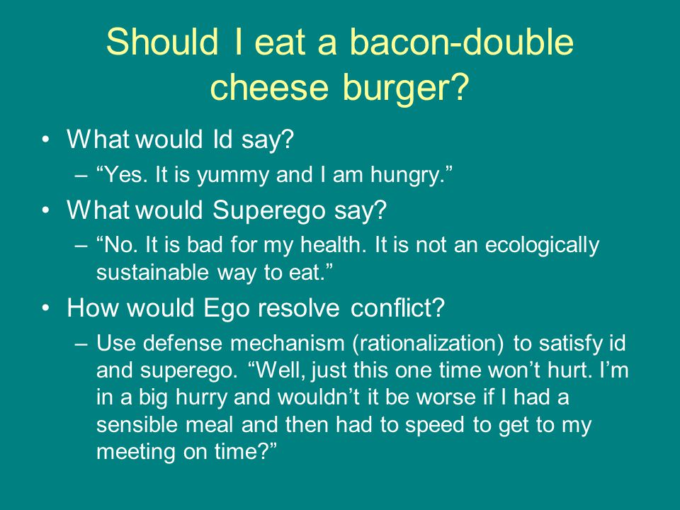 Should I eat a bacon-double cheese burger
