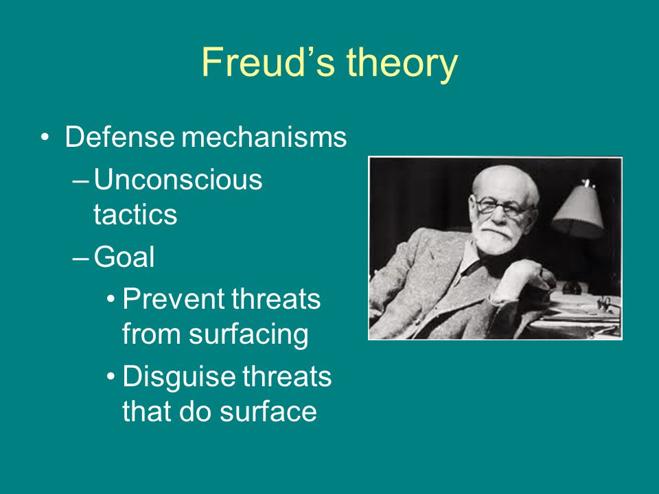 Freud's theory Defense mechanisms Unconscious tactics Goal
