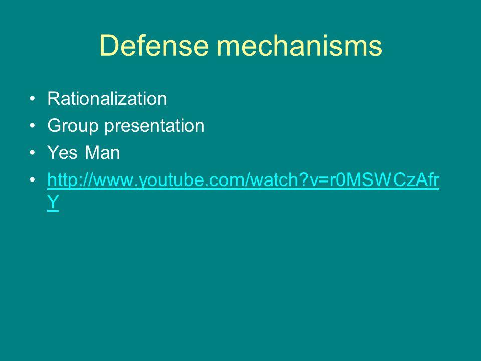 Defense mechanisms Rationalization Group presentation Yes Man